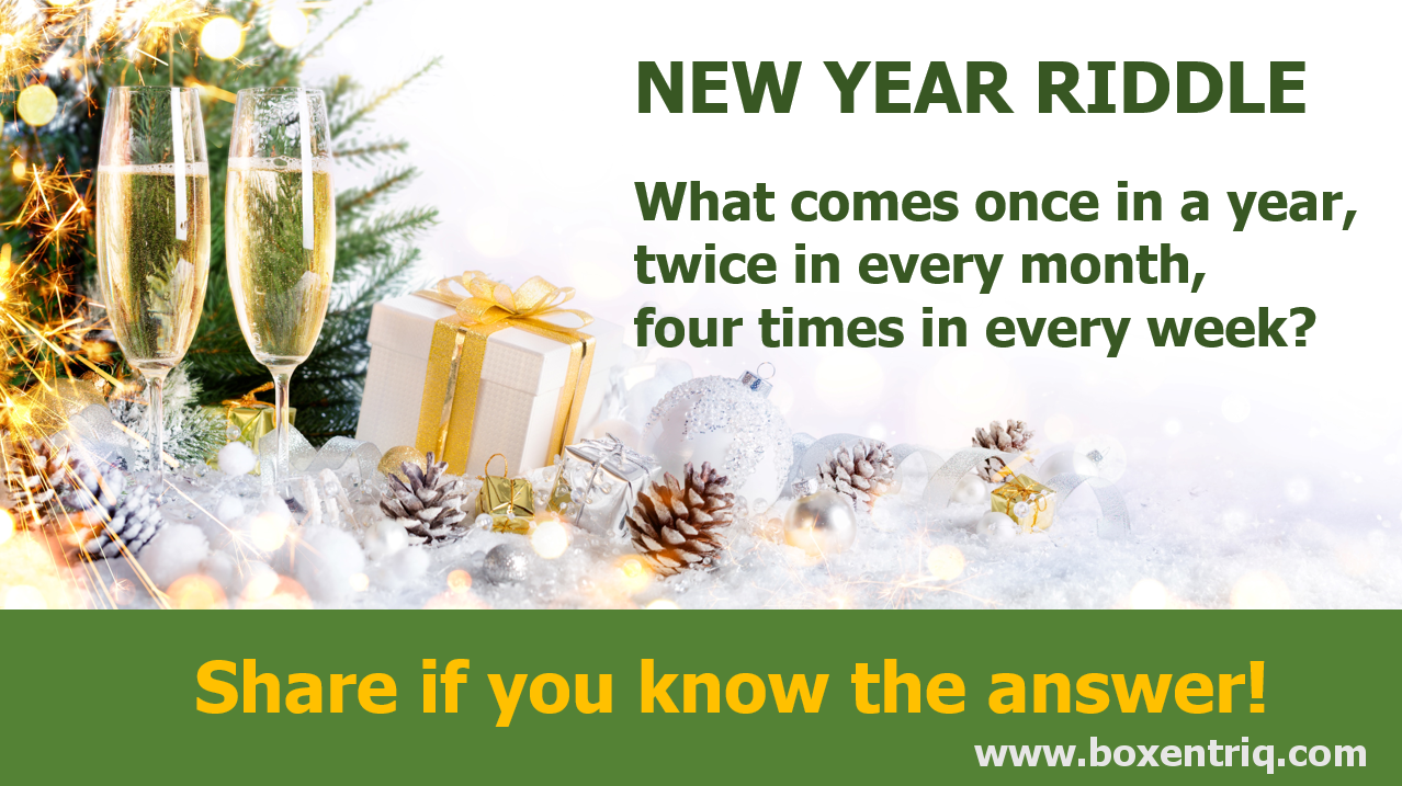 Boxentriq New Year Riddle 2016