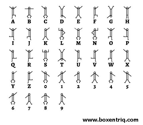 Dancing Men Cipher - decoder, translator | Boxentriq